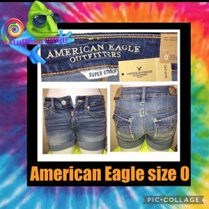 AMERICAN EAGLE OUTFITTERS NWT JEAN SHORTS MIDI SZ0